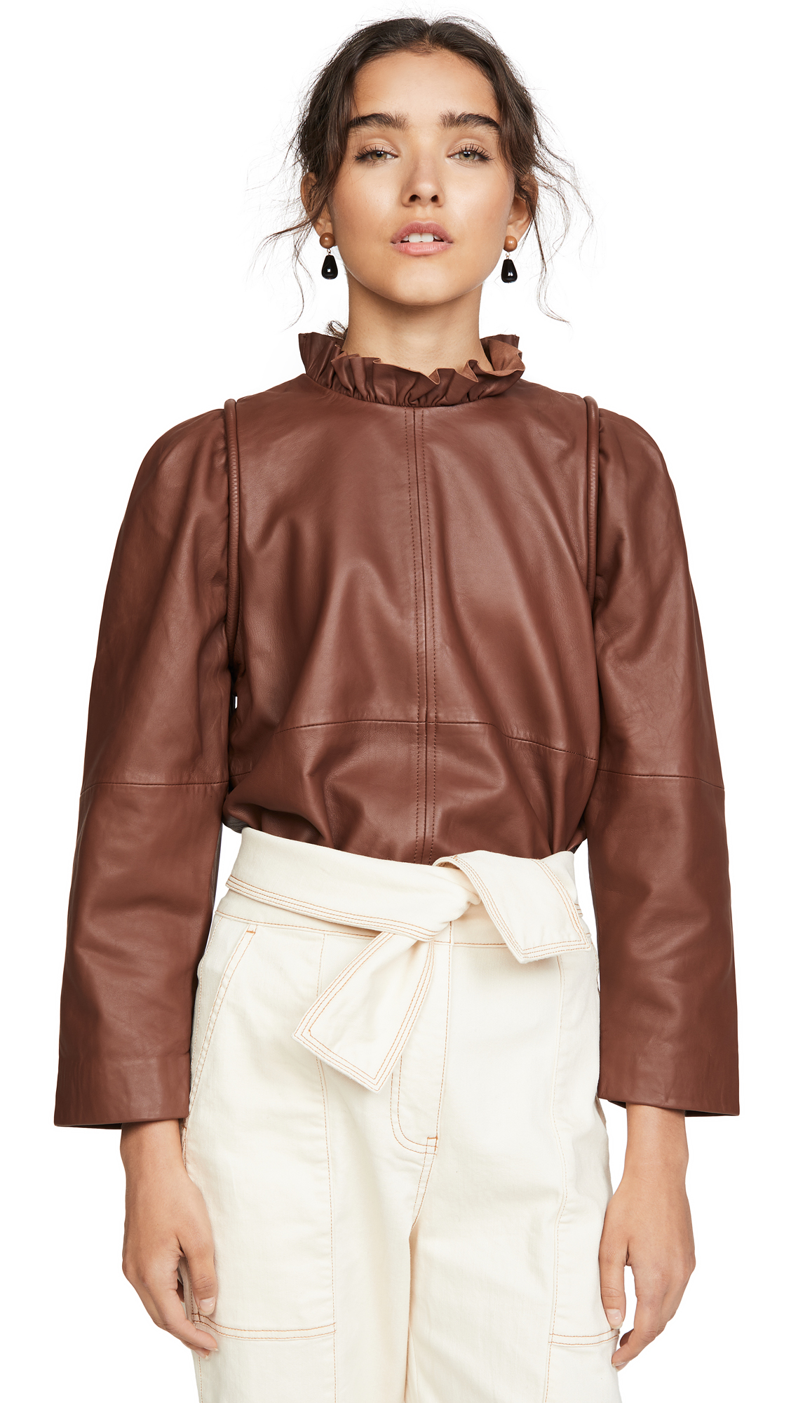 Buy Sea online - photo of Sea Lidia Leather Top