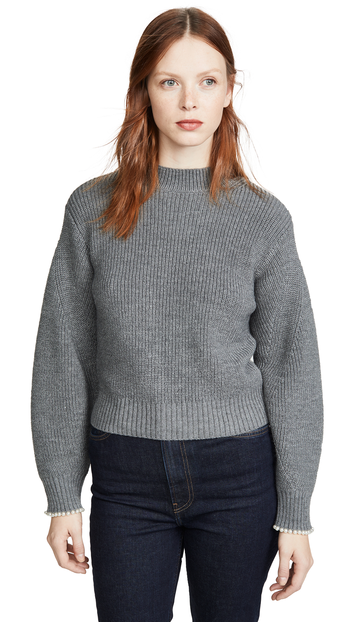 Buy Sea online - photo of Sea Charlotte Imitation Pearl Pullover