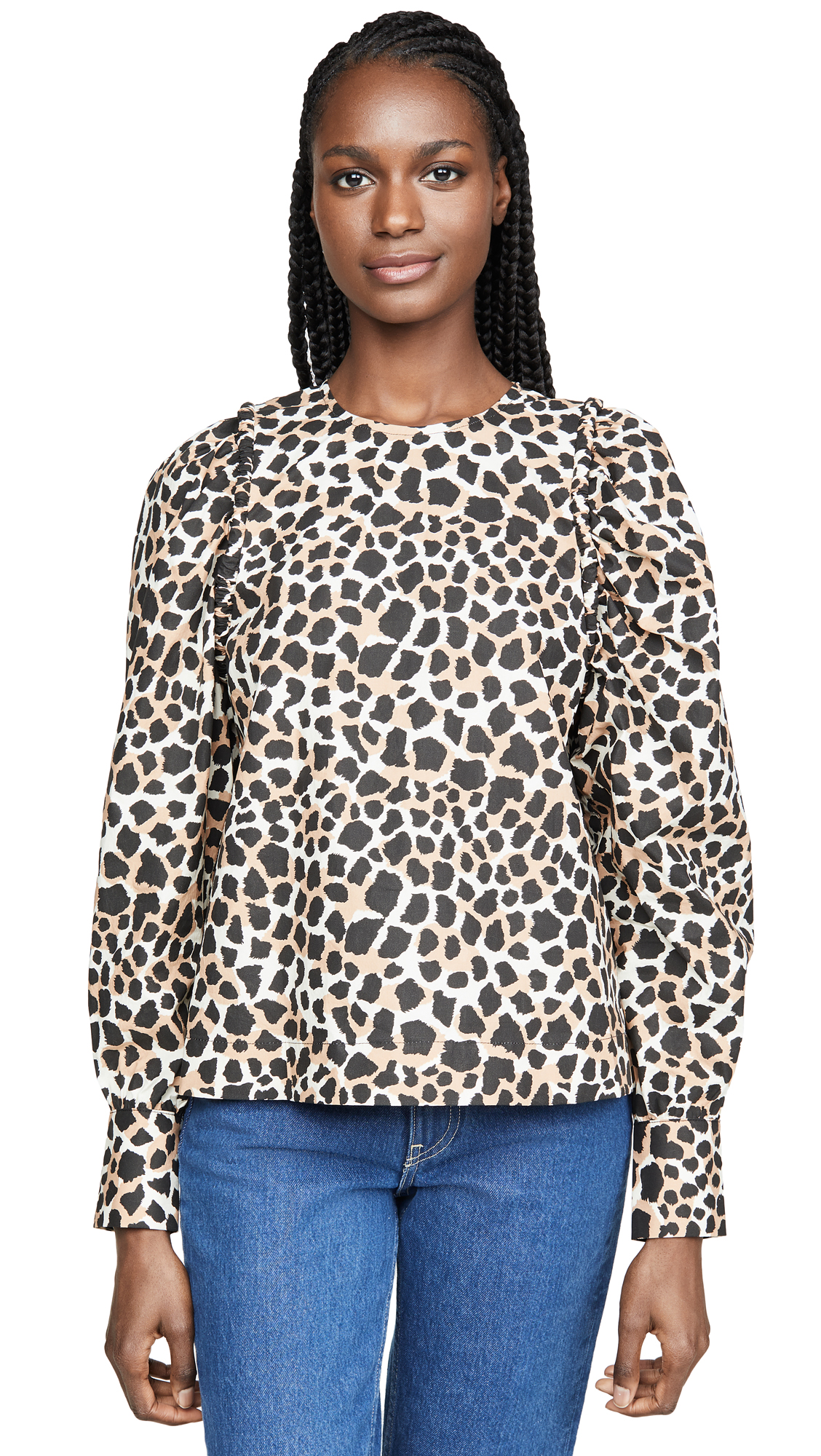 Sea Corded Long Sleeve Peasant Top - 55% Off Sale
