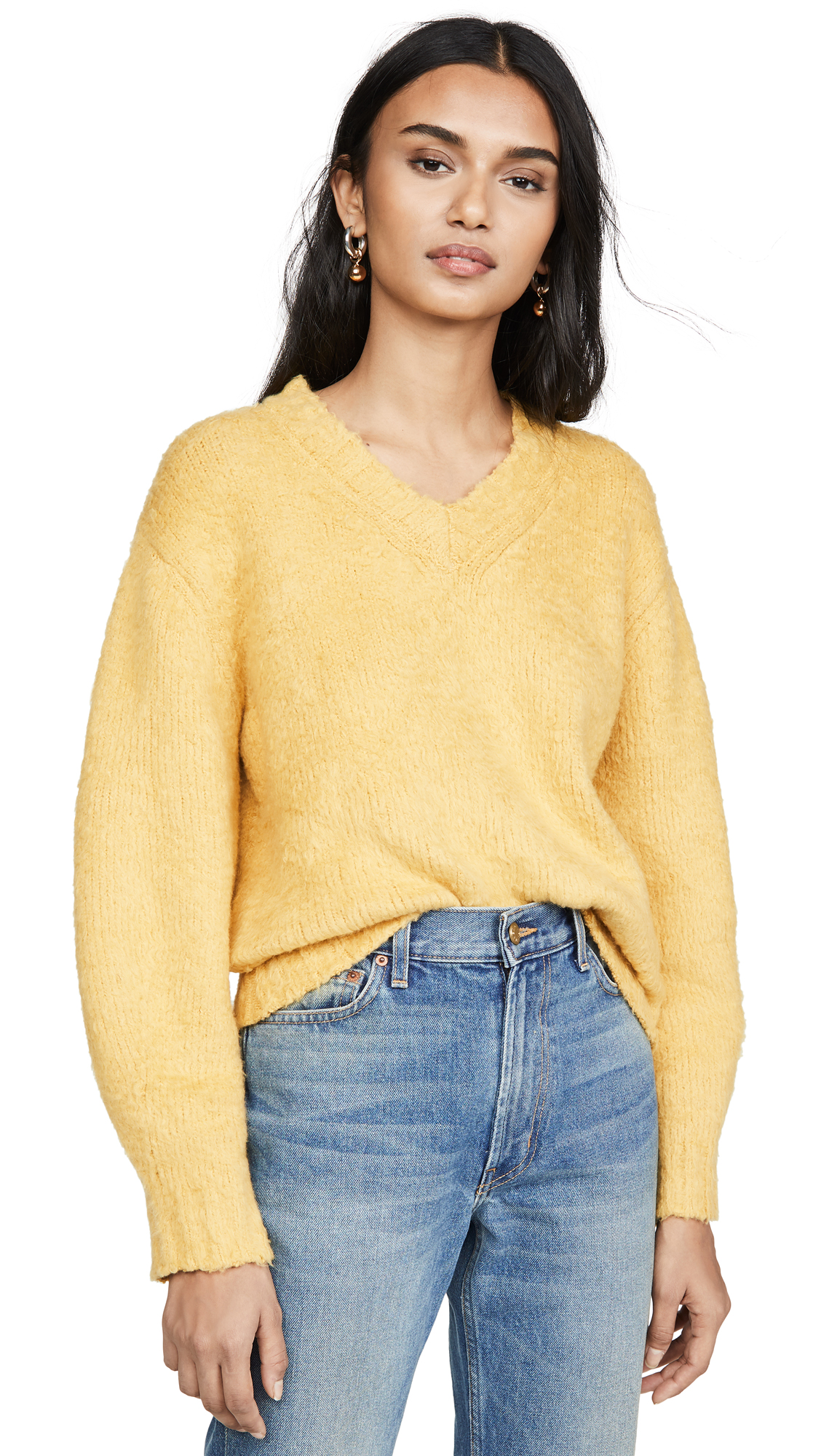 Buy Sea online - photo of Sea Fae Fleece V Neck Sweater