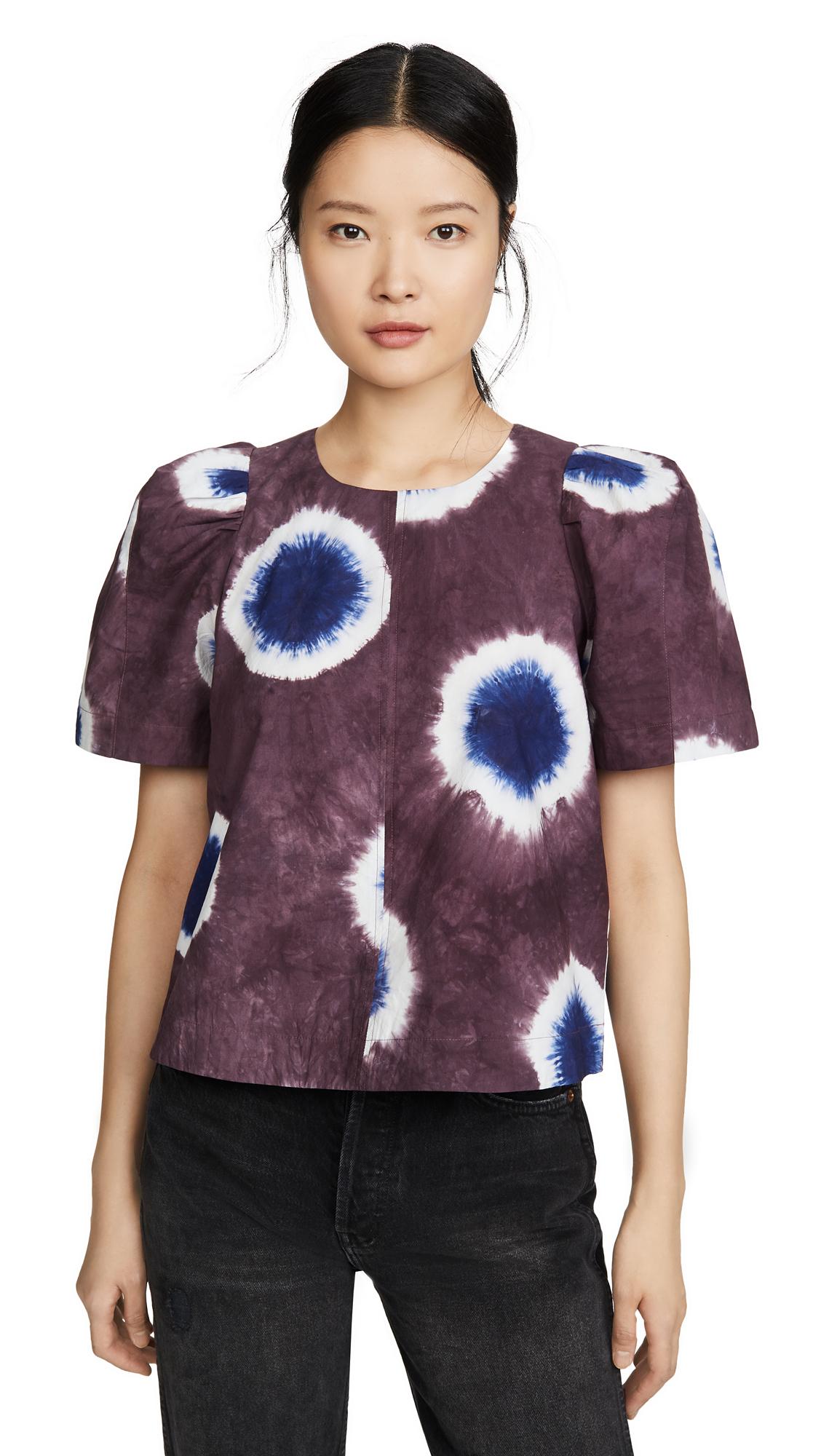 Buy Sea online - photo of Sea Tie Dye Puff Sleeve Top