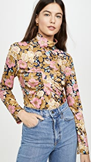 Sea Floral Jersey Top
