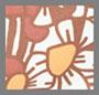 коричневый цветочный