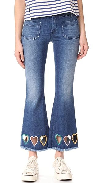 Seafarer Penelope Short Flare Heart Jeans
