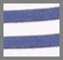 White/Avio Stripe