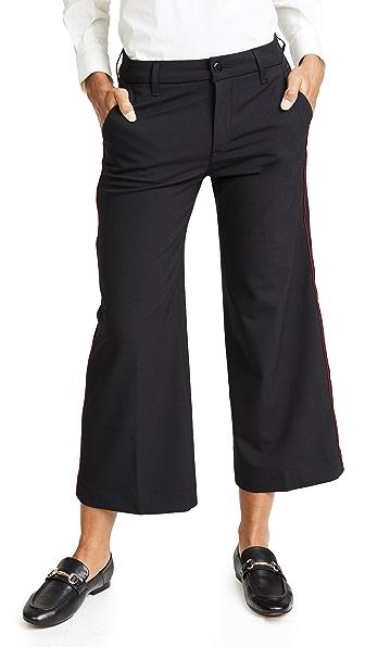 Seafarer Harry New Special Wide Leg Wool Trousers In Black Wool