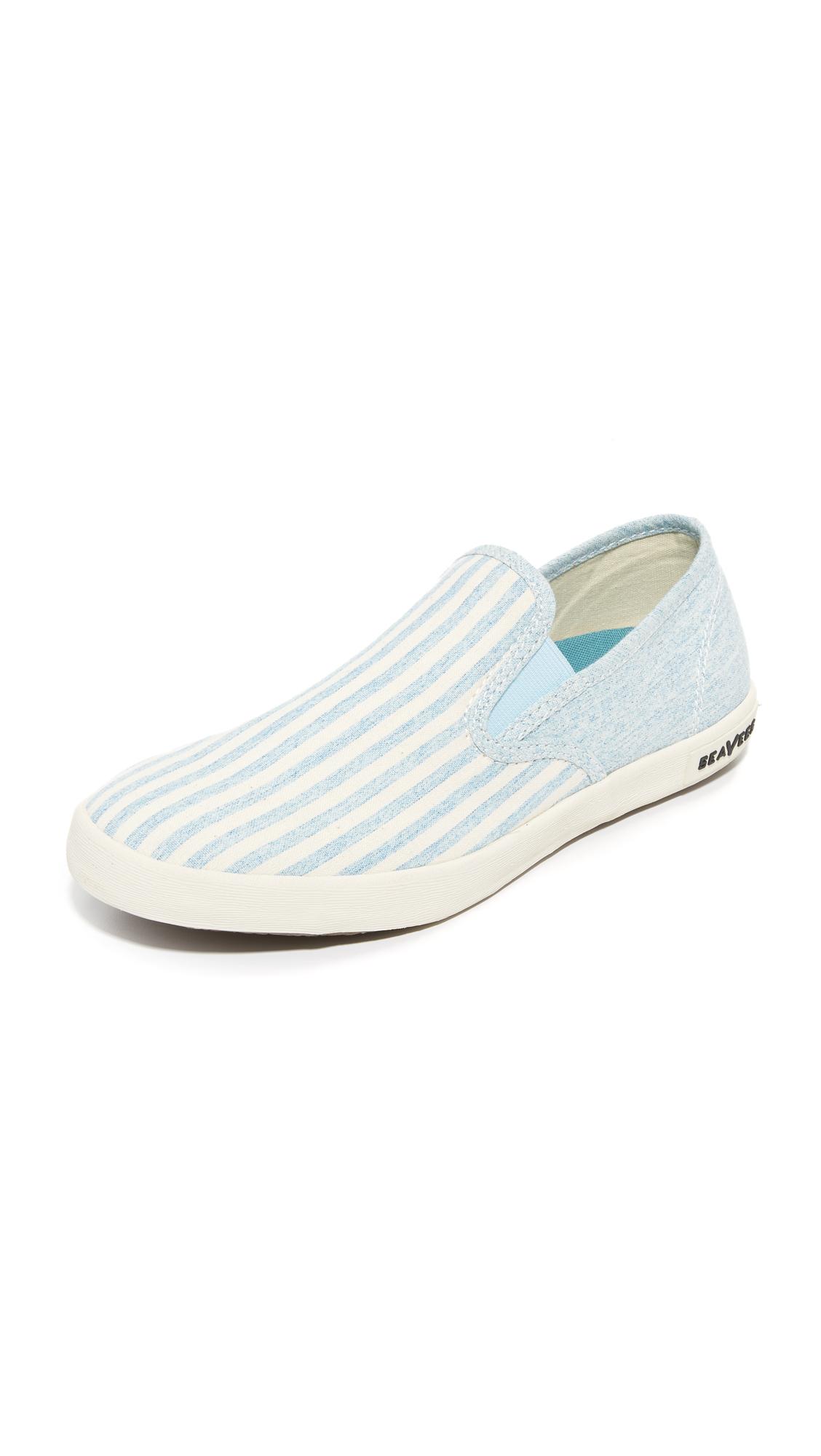 seavees female seavees baja beach club slip on sneakers soft blue