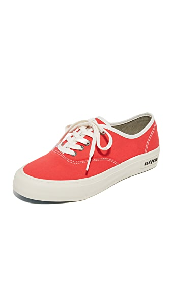 SeaVees Legend Standard Sneakers In Lifeguard Red