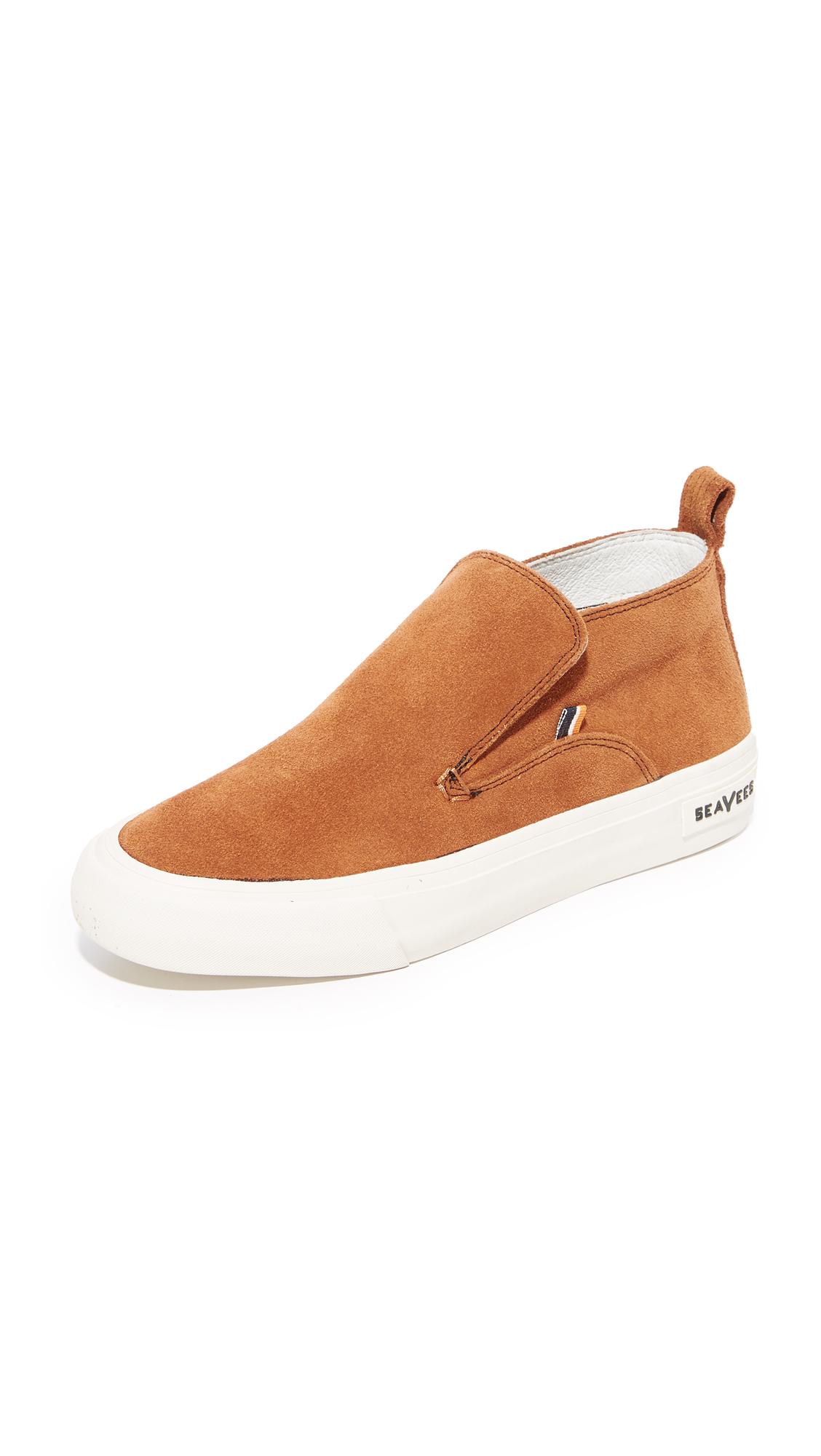 SeaVees x Derek Lam 10 Crosby Huntington Middie Sneakers - Cognac