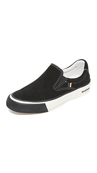 SeaVees x Derek Lam 10 Crosby Hawthorne Slip On Sneakers - Black