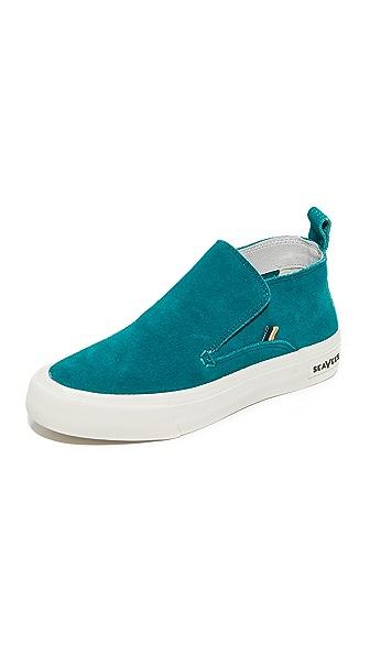 SeaVees x Derek Lam 10 Crosby Huntington Middie Sneakers - Teal