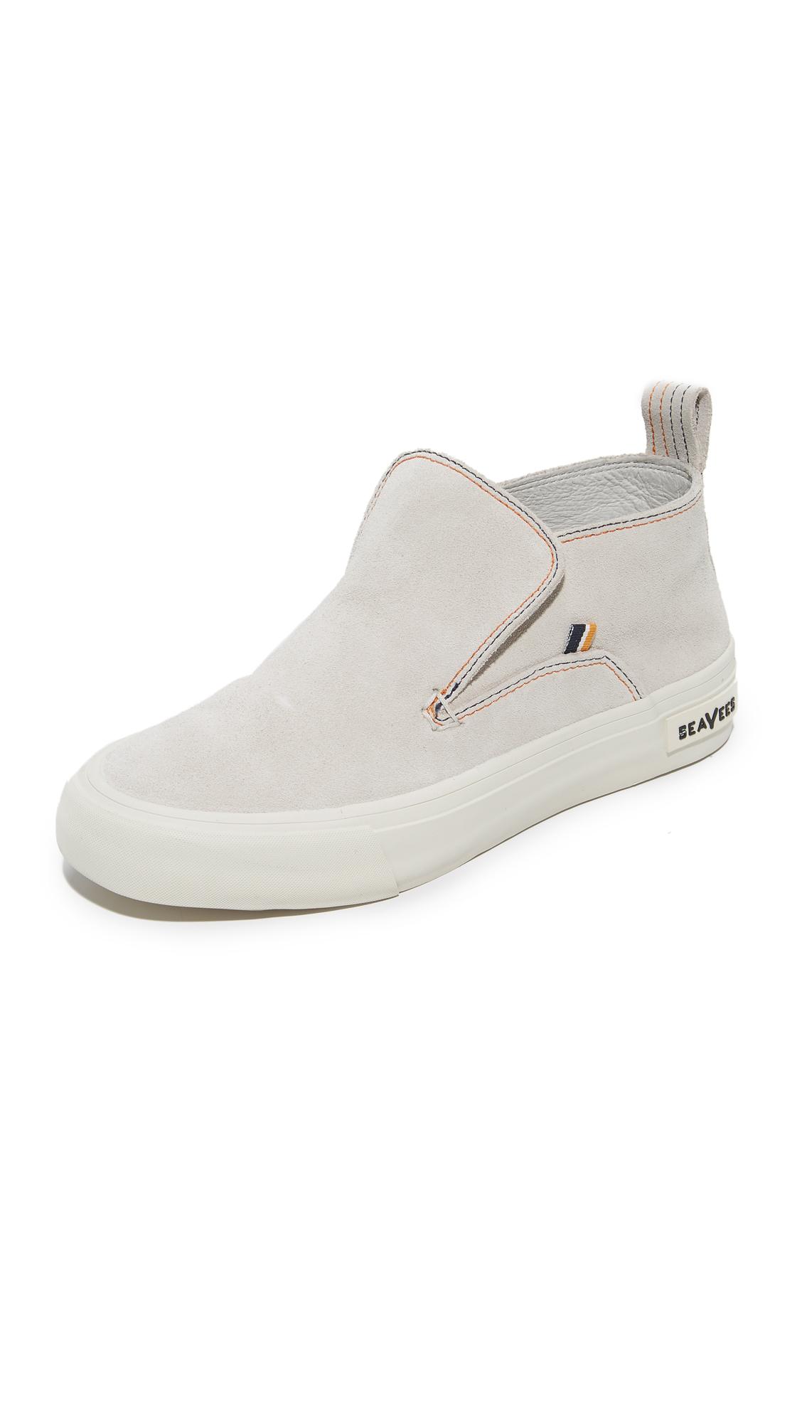 SeaVees x Derek Lam 10 Crosby Huntington Middie Sneakers - Oyster