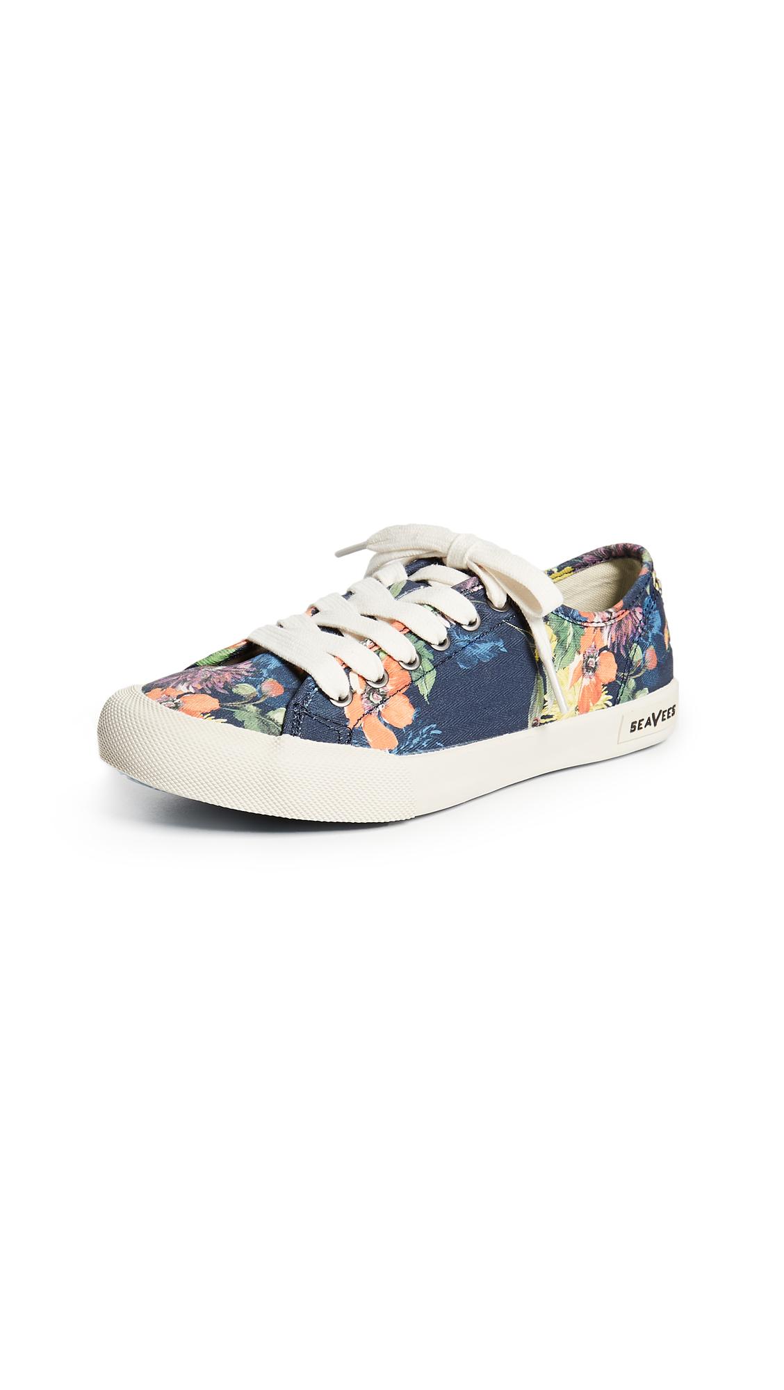 SeaVees x Trina Turk Monterey Sneakers - Navy Chrysanthemum