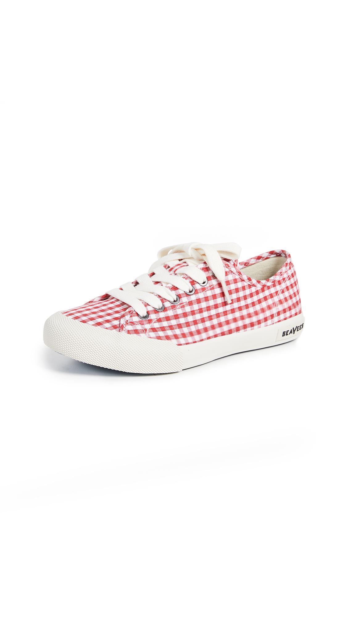 SeaVees Monterey Sneakers - Red Gingham