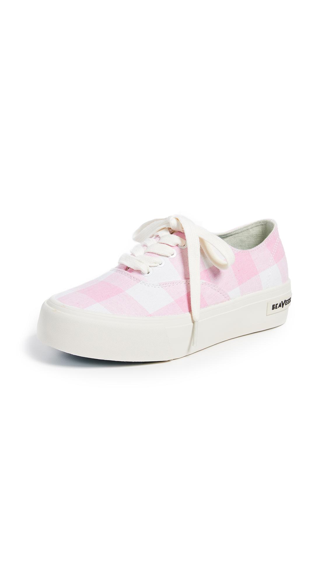SeaVees Legend Platform Sneaker - Pink Gingham