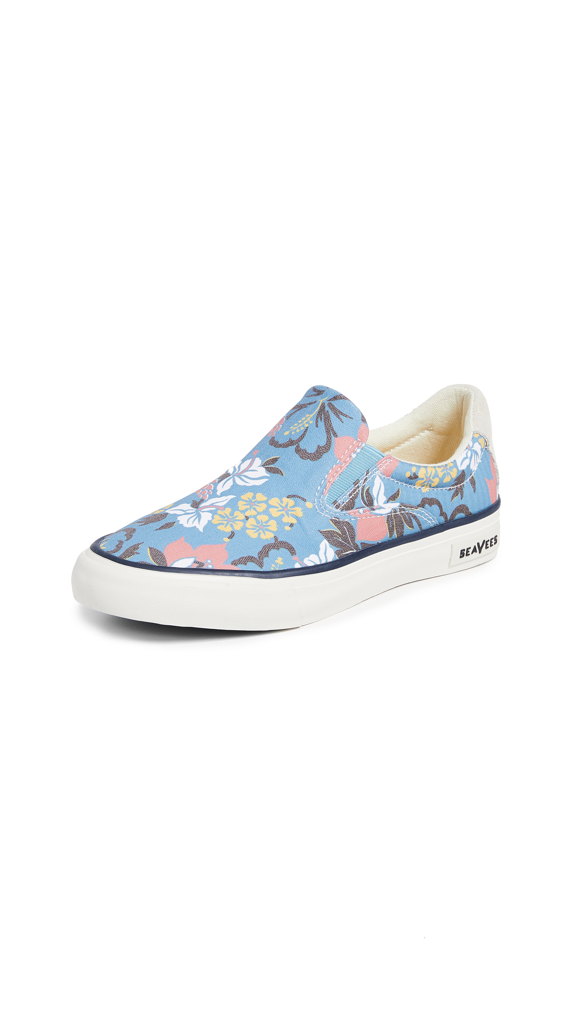 SeaVees Hawthorne Beachcomber Slip Ons - Blue Hibiscus