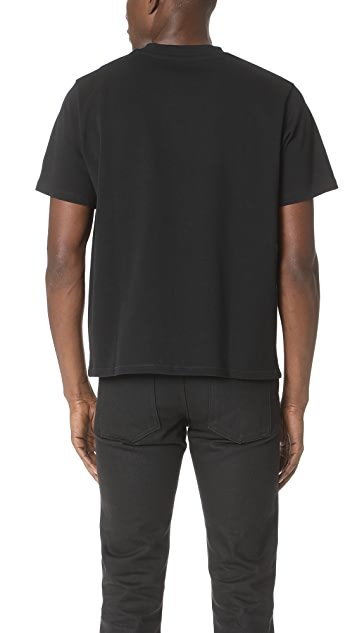 Second/Layer Structured Jersey Cropped Tee