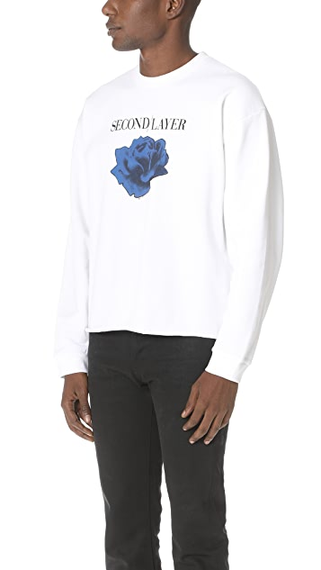 Second/Layer Disconnect Tour Cropped Pullover