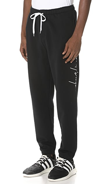 Second/Layer Large Script Sweatpants