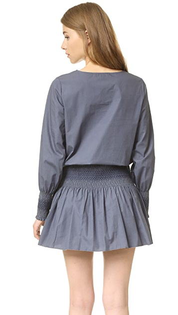 See by Chloe Smocked Poplin Dress