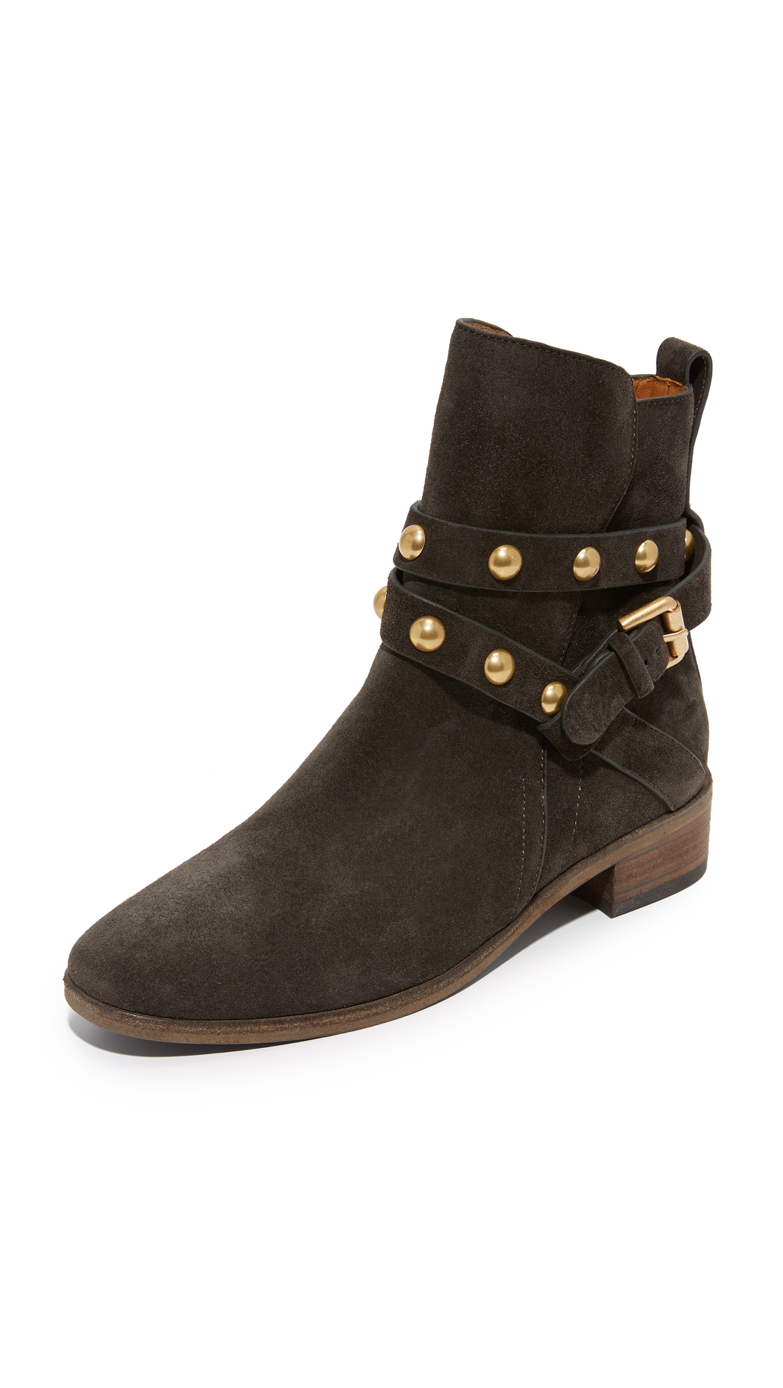 See By Chloe Janis Flat Booties - Asfalto