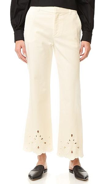 See by Chloe Расклешенные джинсы с кружевным шитьем