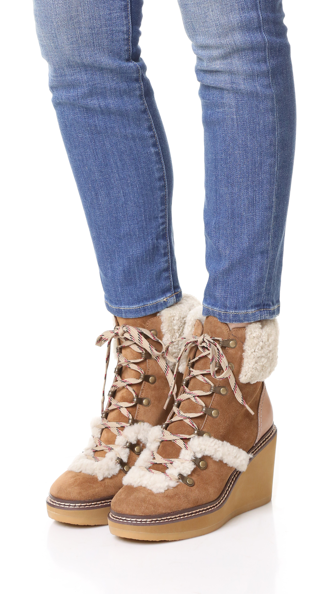 Eileen suede and shearling boots See By Chlo uoA0v