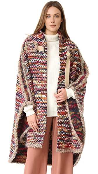See by Chloe Boho Cape Coat
