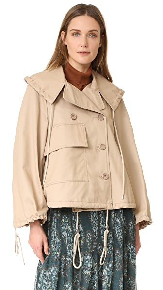 See by Chloe Trench Jacket - Straw