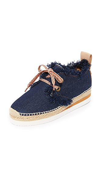 See by Chloe Denim Espadrille Sneakers - Denim
