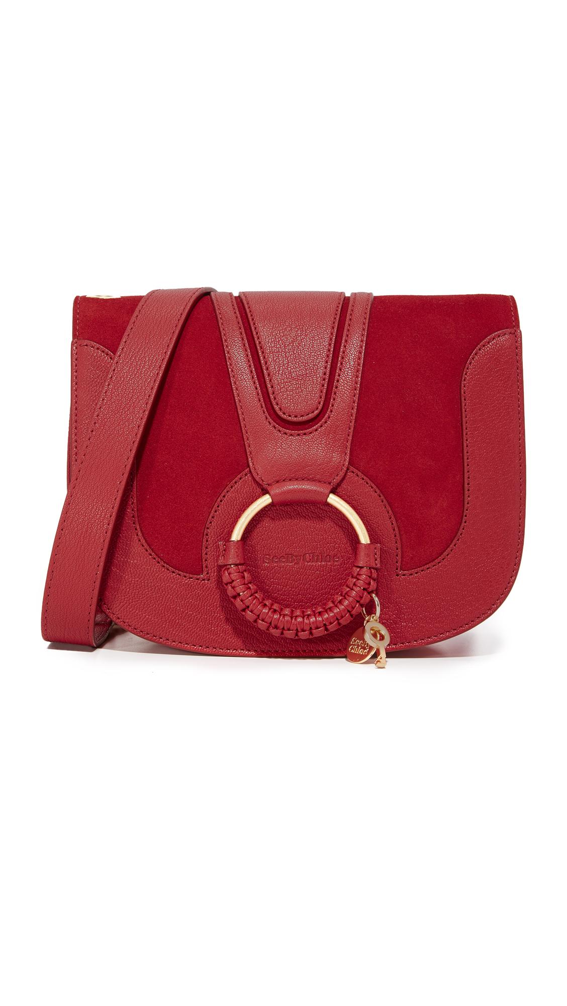 see by chloe female see by chloe hana saddle bag red velvet