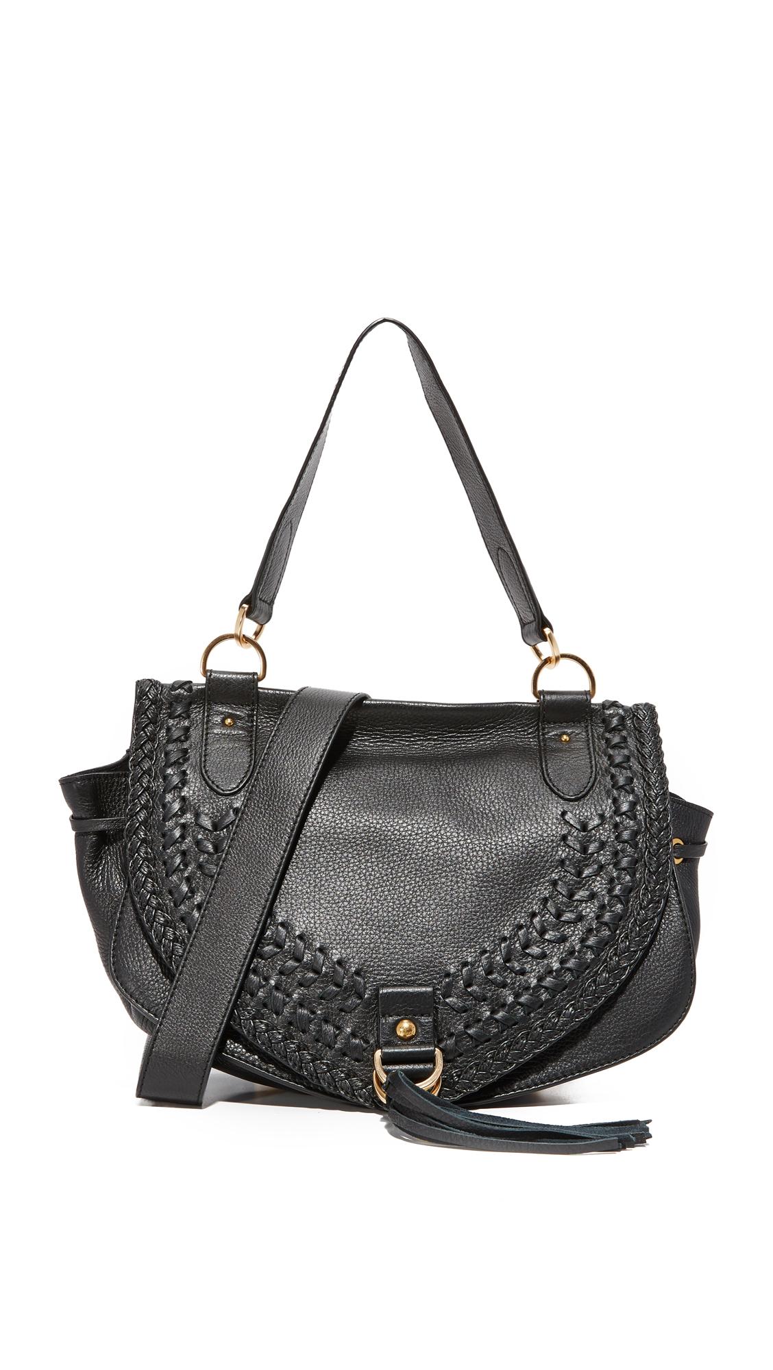 see by chloe female see by chloe collins large saddle bag black