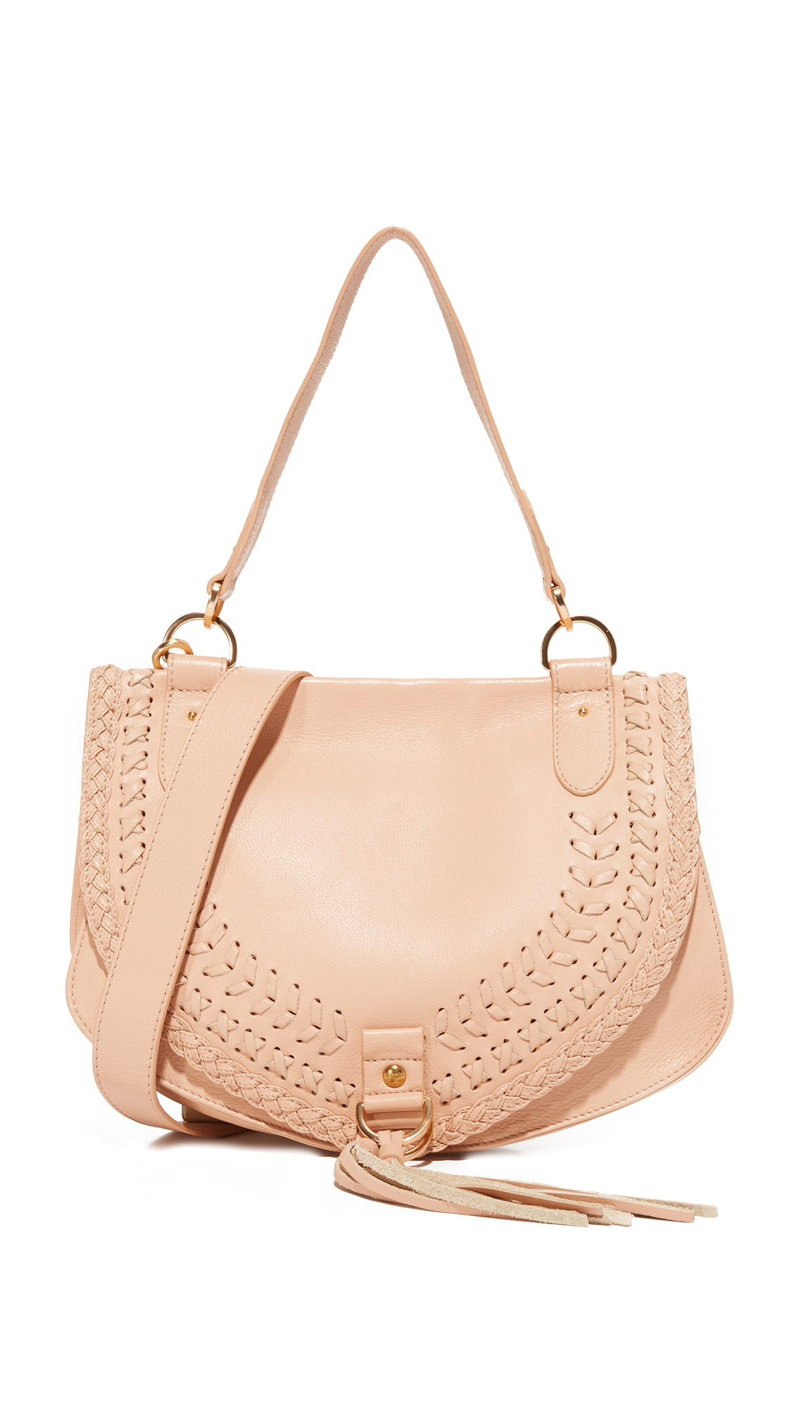 see by chloe female see by chloe collins large saddle bag nude