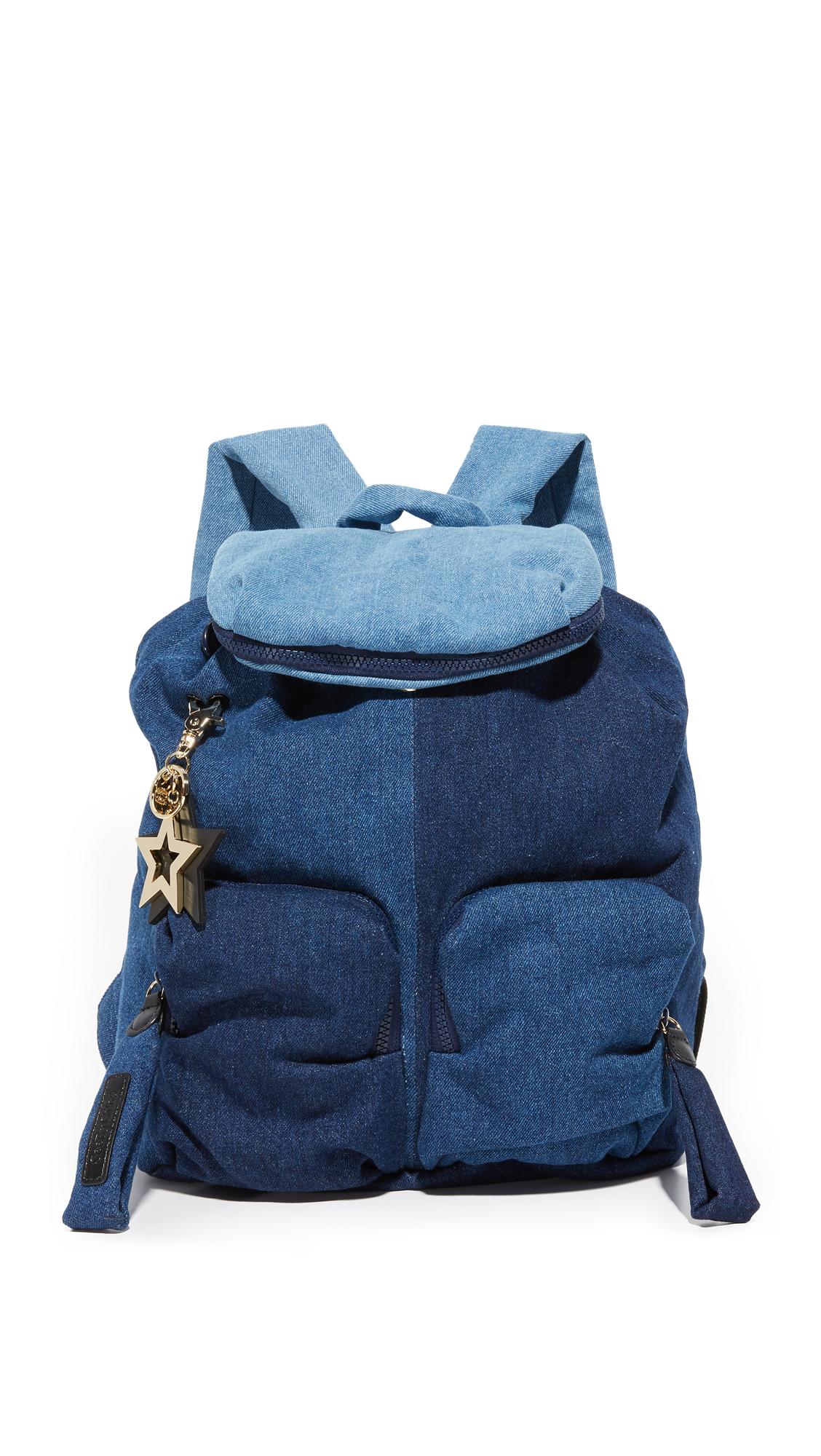 see by chloe female see by chloe joy rider backpack denim