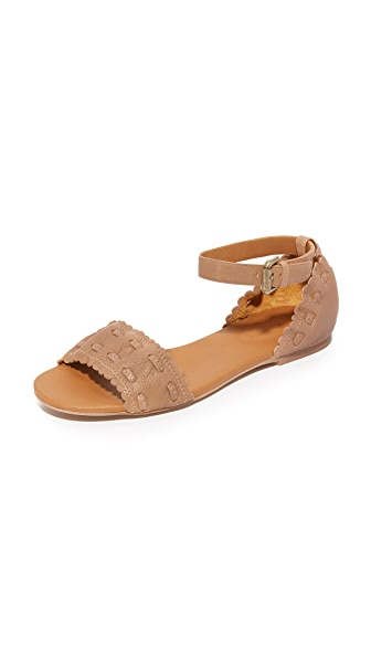See by Chloe Jane Ankle Strap Sandals - Biscotto
