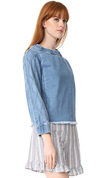 See by Chloe Denim Long Sleeve Top