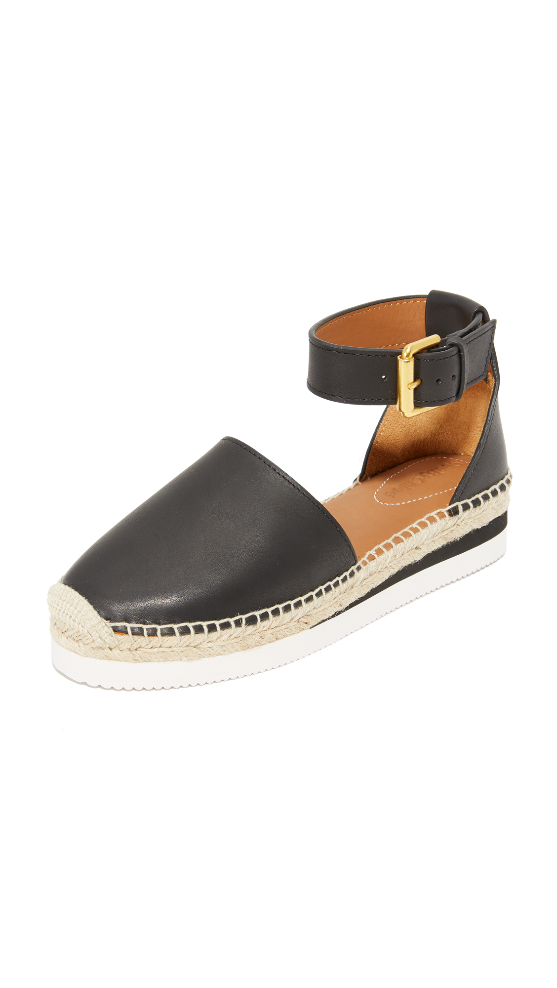 See by Chloe Glyn Espadrille Wedge Sandals - Nero
