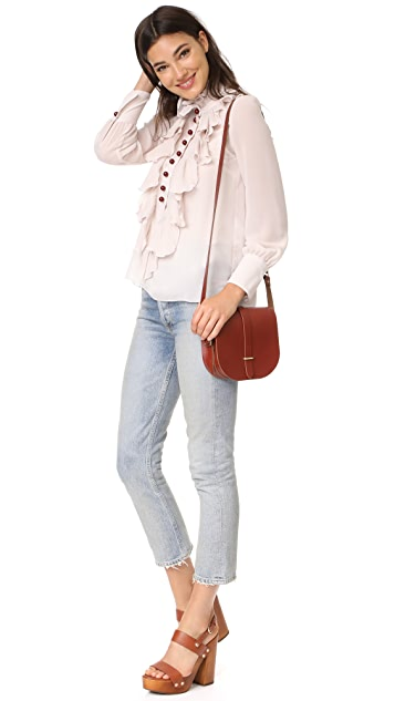 See by Chloe High Neck Ruffle Blouse
