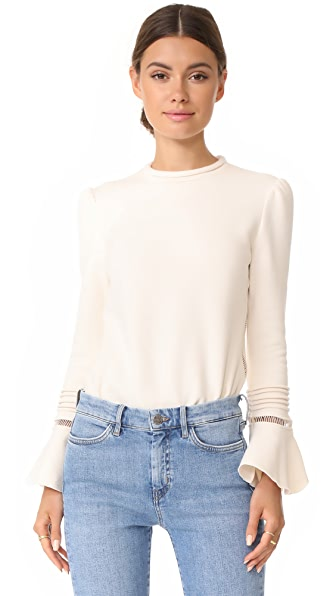 See by Chloe Flare Sleeve Pullover - Natural White
