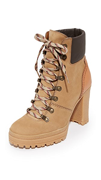 See by Chloe Eileen Lace Up Boots - Tortora