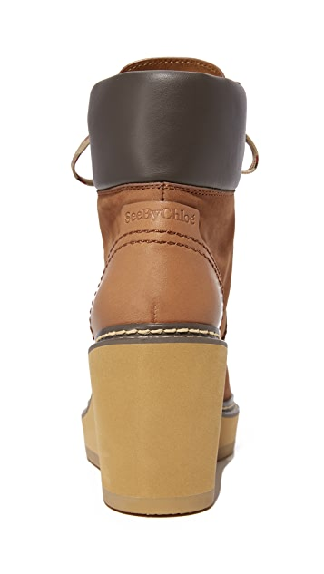 See by Chloe Eileen Wedge Boots