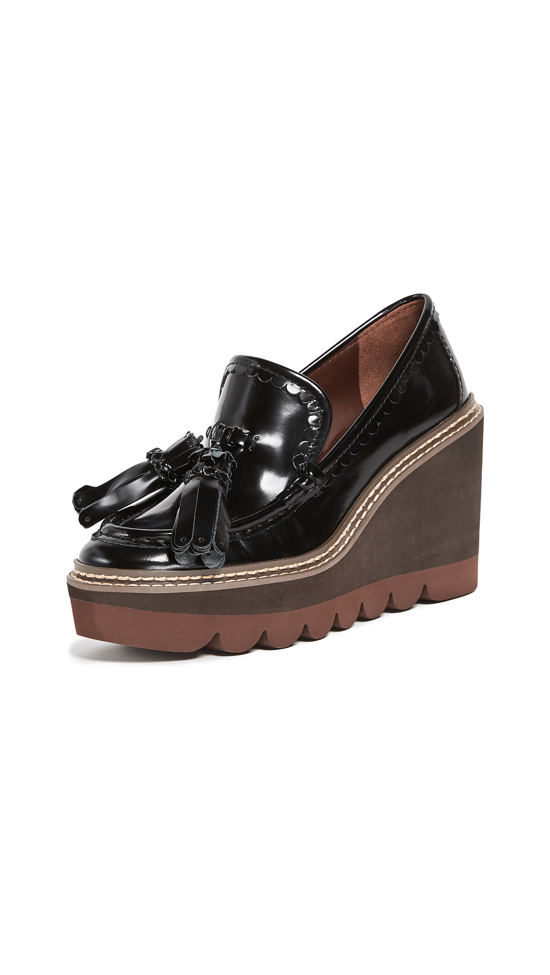 See by Chloe Zina Wedge Loafers - Nero