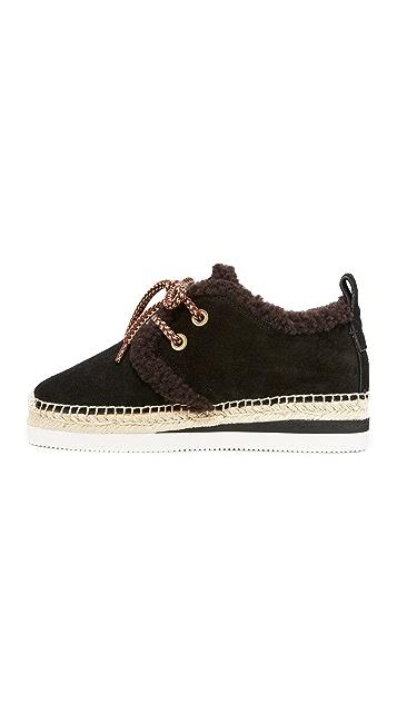 See by Chloe Glyn Shearling Sneakers