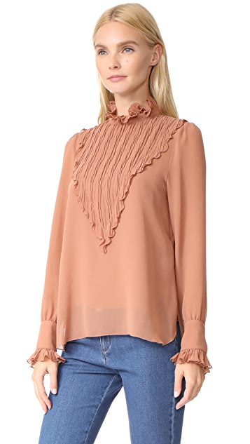 See by Chloe Puckered Neck Blouse