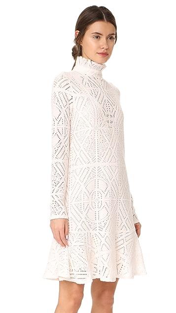 See by Chloe Lace Ruffle Neck Dress