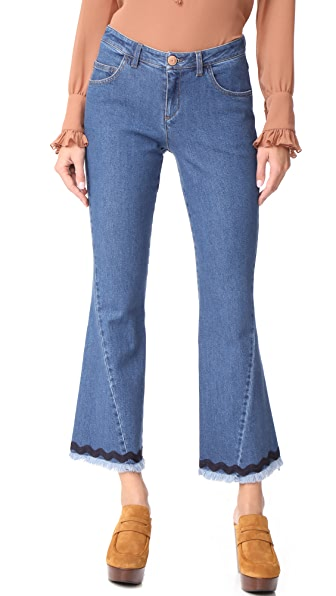 See by Chloe Flare Jeans In Shady Cobalt