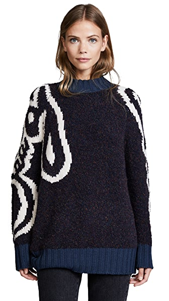 See by Chloe Oversized Sweater In Abyss Blue