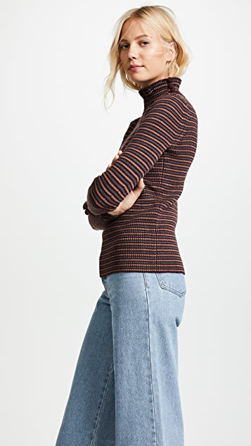 See by Chloe Ruffle Turtleneck Pullover