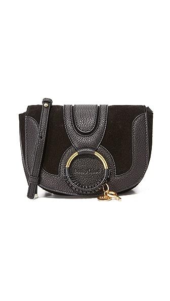 See by Chloe Hana Small Saddle Bag - Black