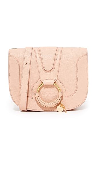 See by Chloe Hana Medium Saddle Bag - Powder